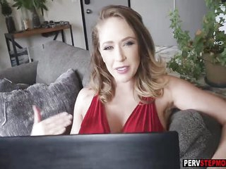 Horny stepson has fantasy about his busty MILF stepmom
