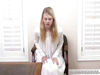 Mature kissing teen He forced me to get on his desk on my