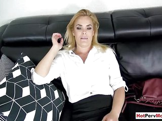 Small titted MILF stepmother fucked by her stepson