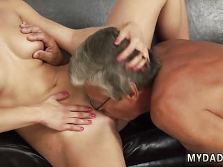 Gift to step daddy and old german mature anal Sex with her