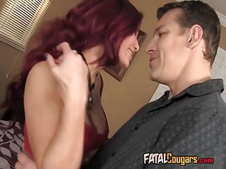 Classy Redhead MILF Bangs Her Neighbor