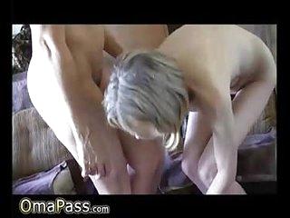 OmaPasS Old Granny Lesbians Nipples Licking Video