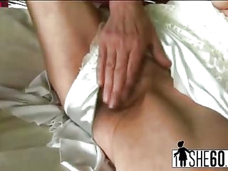 Horny granny Inci riding young cock and cumming