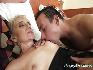 Blonde granny gets her ass fucked