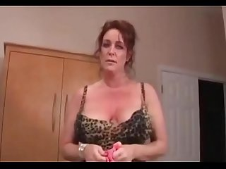 Amateur mom helps son jerk off with her panties full video at