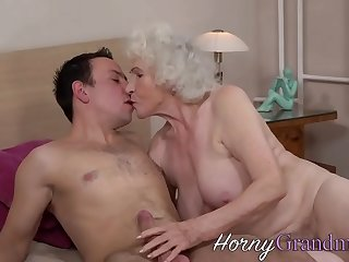Grandma gets facial after getting fingered