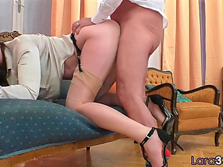 Roundass mother i'd like to fuck doggystyled in pov scene
