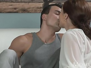 MOM Younger boy fucks older housewife in the ass