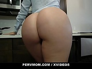 PervMom - Big Ass Blonde Stepmom And Son Fuck While Dad's Gone