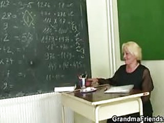 porn for free Two pupils bang lustful mature teacher