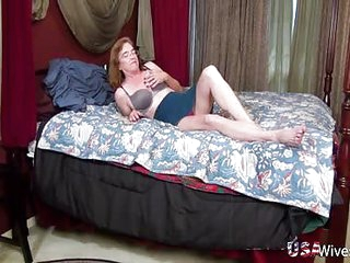 USAwives Mature Carmen Hairy Pussy Solo Toying