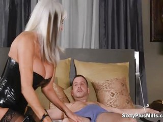 Anal Sex With Busty 60yrs GILF who makes this young guy super hard ready to fuck them mature tits