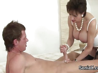 Adulterous british mature lady sonia exposes her