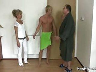 free porno tube Horny mom and dad fucks their son's GF