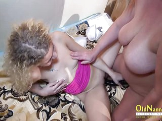 OldNannY Published Full Mature Threesome Movie