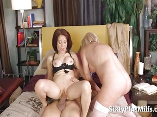 See Two Mature Whores Had a Wild Threesome