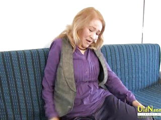 OldNannY Horny Mature Sofia Playing with Herself