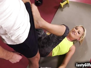 Young trainer loves mature woman especially Szandi
