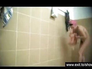 Mature Moms spied in public shower room