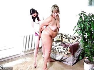 Lesbian fucking with old sexy granny, oldnanny